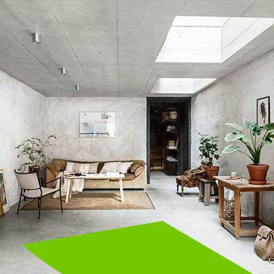 Erisa-Living room interior design- wabi sabi style