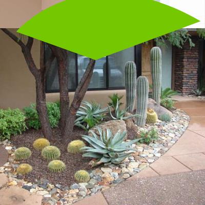 Erisa-29 small garden ideas-6-Gardens with stone details
