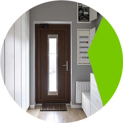 Erisa-Creative ways to get more natural light in darkened rooms-Choose a door with a window