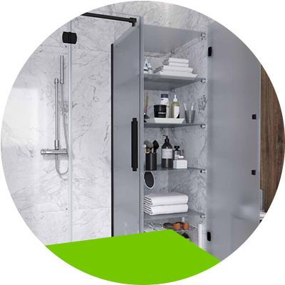 Erisa-Screens Choose the ideal one for your bathroom-Screens with closets