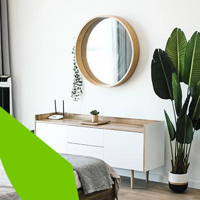 Mirrors, tips to make a room look bigger.
