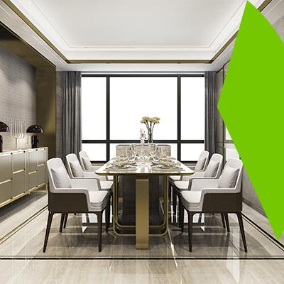 Erisa-European trends in interior design-Large dining room