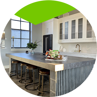 Erisa-Kitchen countertop choose the best materials for its construction-Concrete countertop