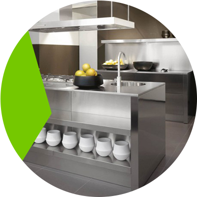 Erisa-Kitchen countertop choose the best materials for its construction-Stainless steel countertop