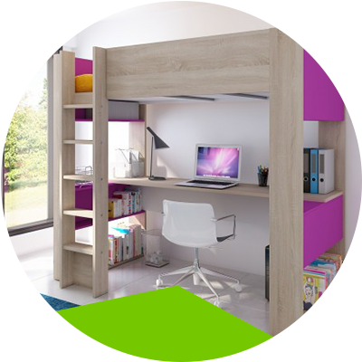 Erisa-Learn the advantages of loft beds for your room -The space of the rooms can be optimized for children