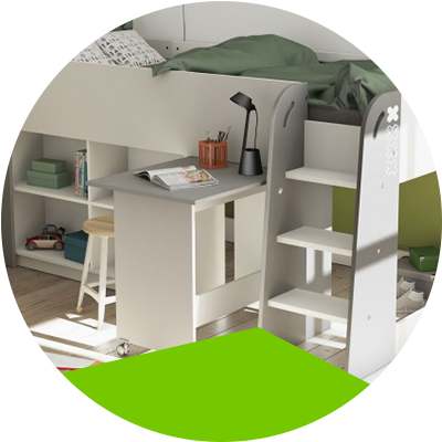 Erisa-Learn the advantages of loft beds for your room -There are a variety of raised beds