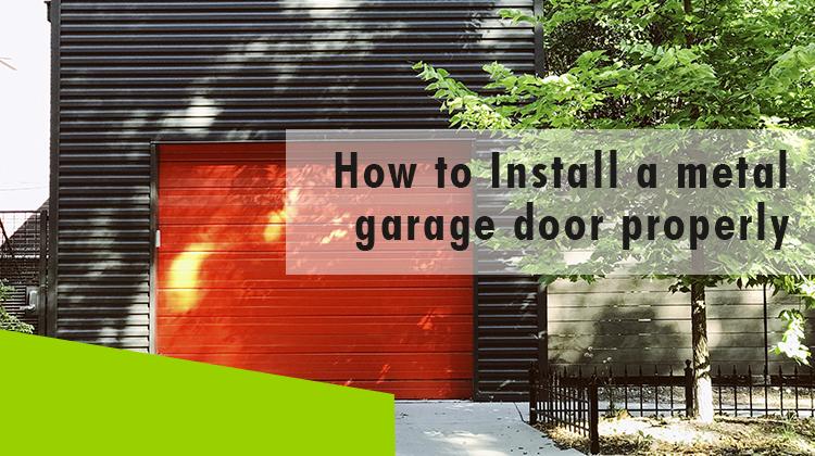 Erisa-How to Install a metal garage door properly-Banner